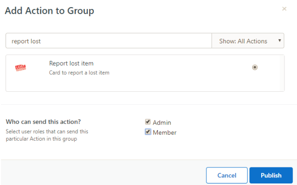 add action to group