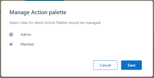 manage action palette