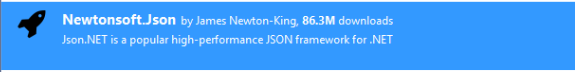 4. Newtonsoft Json reference