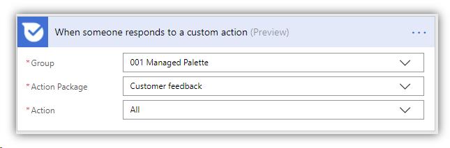 custom action - trigger