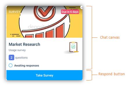 survey chat card - 2