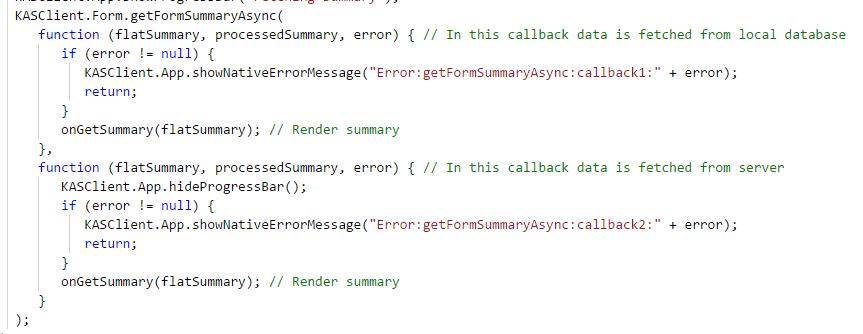 summary code