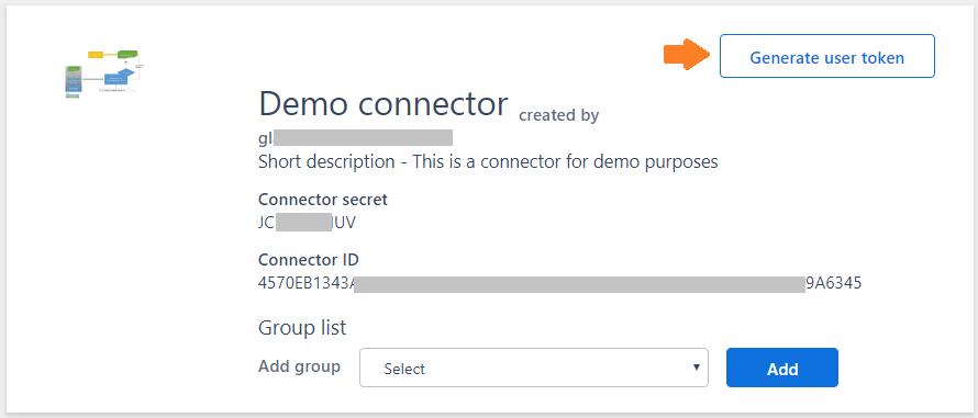 Connector - user token